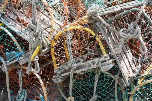 Lobster traps, Seahouses, Northumbria, United Kingdom