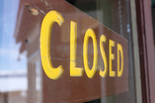 Closed Sign in Yellowstone